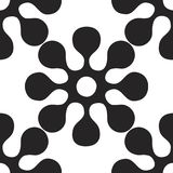 Vector seamles pattern of round flowers and elements. Vector seamles pattern of round flowers Stock Image