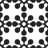 Vector seamles pattern of round flowers and elements. Vector seamles pattern of round flowers Royalty Free Stock Image