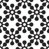 Vector seamles pattern of round flowers. Vector seamles pattern of round elements Royalty Free Stock Images