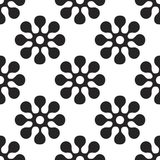 Vector seamles pattern of round flowers. And elements Royalty Free Stock Image
