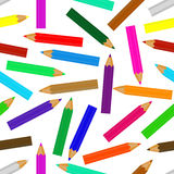 Vector seamless. Seamless consists of pencils in different colors Royalty Free Stock Images