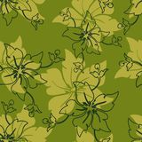 Vector seamless. Background with floral pattern Stock Illustration