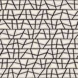 Vector seamless aboriginal pattern including ethnic Australian motive with typical dotted elements, lines and shapes. On worn out texture stock illustration