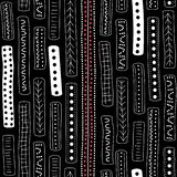 Vector seamless aboriginal pattern including ethnic Australian motive with typical elements. Vector seamless aboriginal pattern including ethnic Australian Royalty Free Illustration