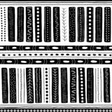 Vector seamless aboriginal pattern including ethnic Australian motive with typical elements on white worn out texture. Vector seamless aboriginal pattern Royalty Free Illustration
