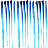 Vector seamless abstract background with hand painted watercolor. Blue stripes royalty free illustration