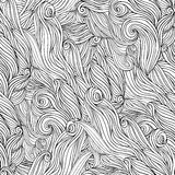 Vector seamless abstract background with waves. Royalty Free Stock Photography