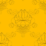 Vector seamless abstract blossom pattern, paper Royalty Free Stock Image
