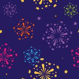 Seamless abstract color pattern background fireworks. Vector seamless abstract color pattern background fireworks Stock Images