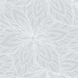 Vector seamless abstract floral monochrome pattern. Royalty Free Stock Image