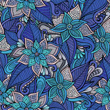 Vector seamless abstract flowers pattern Stock Photo