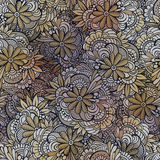 Vector seamless abstract flowers pattern. Endless background Royalty Free Stock Photography