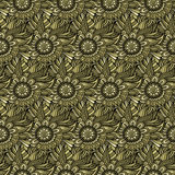 Vector seamless abstract flowers pattern. Royalty Free Stock Photography