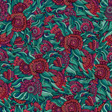 Vector seamless abstract flowers pattern Royalty Free Stock Photography
