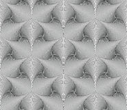 Vector seamless abstract geometric background. Optical art. Engraving style. Elegant background for your designs Stock Photography