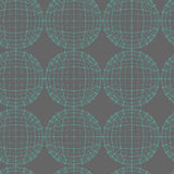 Vector seamless abstract geometric pattern. Repeating Mesh polygonal background. Polygon ball. Stock Images