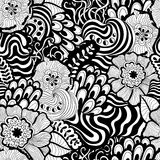 Vector seamless abstract hand-drawn pattern design Royalty Free Stock Photo