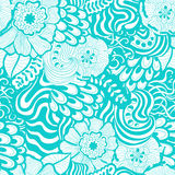 Vector seamless abstract hand-drawn pattern design Stock Photography
