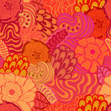 Vector seamless abstract hand-drawn pattern design Royalty Free Stock Images