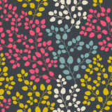 Vector seamless abstract hand-drawn pattern, leaf backdrop, Endl Royalty Free Stock Photography