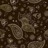 Seamless abstract pattern paisley flower shawl texture royalty free illustration