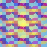 Vector seamless abstract pattern. From geometric colored shapes Royalty Free Stock Images