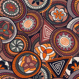 Vector seamless abstract pattern in african style. Abstract pattern in african style, colorful wallpaper Stock Photos