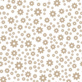 Vector seamless abstract pattern. Beige cogs on white background Stock Image