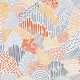 Vector Seamless Abstract Pattern. With bright elements vector illustration