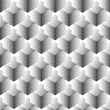 Vector seamless abstract pattern with dotted cubes on a white background. Royalty Free Stock Photos