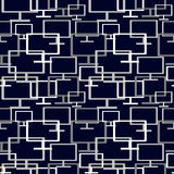 Vector seamless abstract pattern with elements of monitors Royalty Free Stock Image