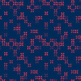 Vector seamless abstract pattern. Geometric background with crosses. Shades of purple. Royalty Free Stock Photography