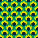Vector seamless abstract pattern of hexagons in flat style. Suitable for Wallpapers, backgrounds and presentations Stock Photography