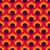 Vector seamless abstract pattern of hexagons in flat style. Suitable for Wallpapers, backgrounds and presentations Royalty Free Stock Images