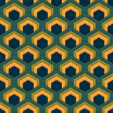 Vector seamless abstract pattern of hexagons in flat style. Suitable for Wallpapers, backgrounds and presentations Stock Images