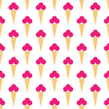 Vector seamless abstract pattern. Ice cream on white background. Modern stylish texture stock illustration