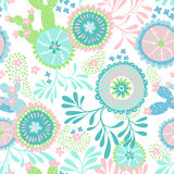 Vector seamless abstract pattern for patchwork, underwater theme. Stock Images