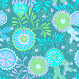 Vector seamless abstract pattern for patchwork, underwater theme. Stock Photos