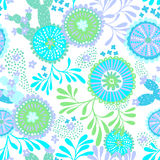 Vector seamless abstract pattern for patchwork, underwater theme. Stock Photo