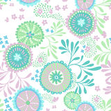 Vector seamless abstract pattern for patchwork, underwater theme. Royalty Free Stock Images