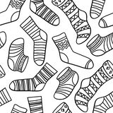 Vector seamless abstract pattern with socks Royalty Free Stock Photos