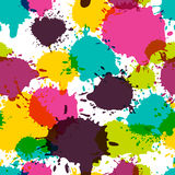 Vector seamless abstract pattern, watercolor splashes, blots Stock Images