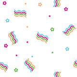 Vector seamless abstract pattern of waves and stars Stock Photography