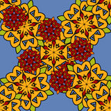 Vector seamless abstract stylized flowers pattern Royalty Free Stock Photo