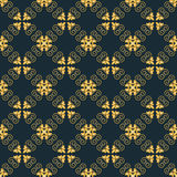 Vector seamless arabic pattern. Gold color and dark blue. Vector seamless arabic pattern. Gold color and dark blue background Royalty Free Stock Photography