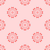 Vector seamless arabic pattern with rounded elements. Cover for invitations and greeting cards. Textile print. Stock Image