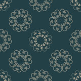 Vector seamless arabic pattern with rounded elements Royalty Free Stock Photo