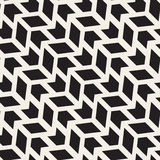 Vector Seamless Arrow Shape ZigZag Geometric Grid Pattern. Vector Seamless Black And White Arrow Shape ZigZag Geometric Grid Pattern. Abstract Geometric vector illustration