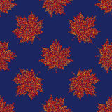 Vector seamless autumn pattern, maple leaf background Royalty Free Stock Photography