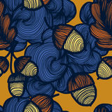 Vector seamless autumn pattern. Repeating abstract background Vector Illustration